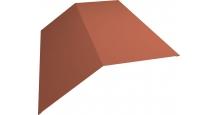 Коньки для кровли из металлочерепицы в Брянске Планка конька 190х190