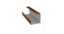 Доборные элементы (Блок-хаус/ЭкоБрус) Grand Line в Брянске Планка угла внутреннего составная нижняя