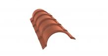 Коньки для кровли из металлочерепицы в Брянске Планка малого конька полукруглого