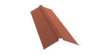 Коньки для кровли из металлочерепицы в Брянске Планка конька плоского 150х40х150