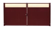 Модульные ограждения Эстет плюс в цвете RR 32 темно-коричневый (близкий RAL 8019) Grand Line в Брянске Ворота